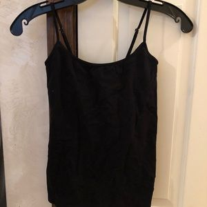 Bebe built in bra black cami new with tags